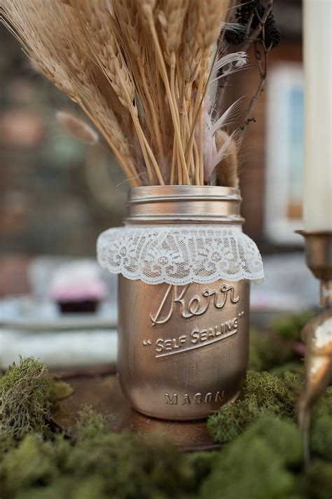 things brides love mason jar wedding reception decor