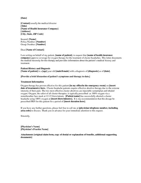 Insurance Justification Letter letter of necessity template template ideas