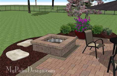 square pits designs image gallery square patio