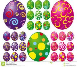 set of easter eggs royalty free stock image image 12825106