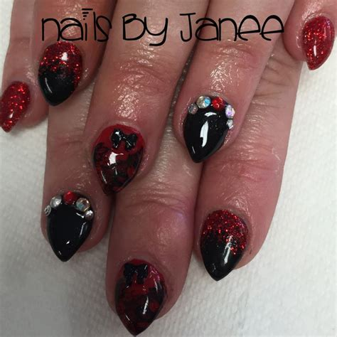 Blus Polka Nevada Pastel We12116 and black nails by janee nails by janee at a
