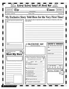 Autobiography Template For Middle School by Grade School Autobiography Report Worksheet Gala Book