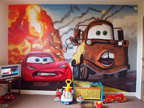 Disney Cars Bedroom Theme by Disney Themed Rooms Cars Disney Bedroom Graffiti