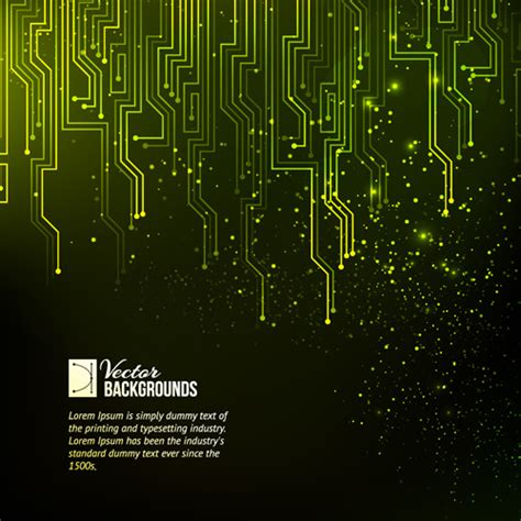 creative circuit board concept background vector free