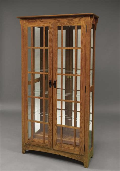Armoire Glass Doors by Amish Mission Door Curio Cabinet Amish Curio