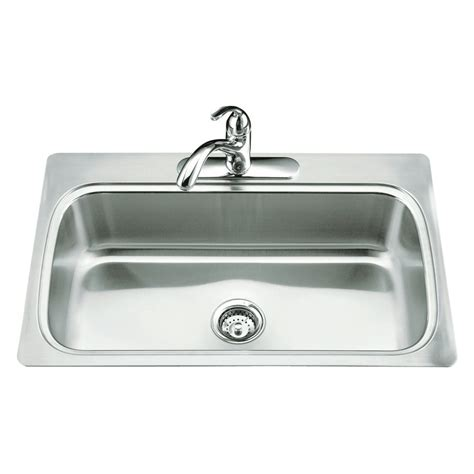 kohler co 3373 verse selfrimming single basin kitchen