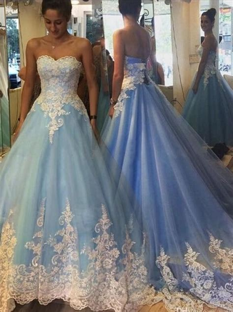 blue cinderella wedding dresses princess wedding dresses