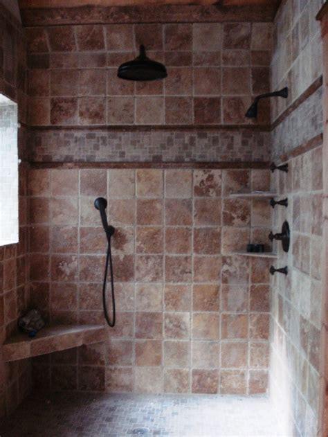 custom tile shower custom tile shower house