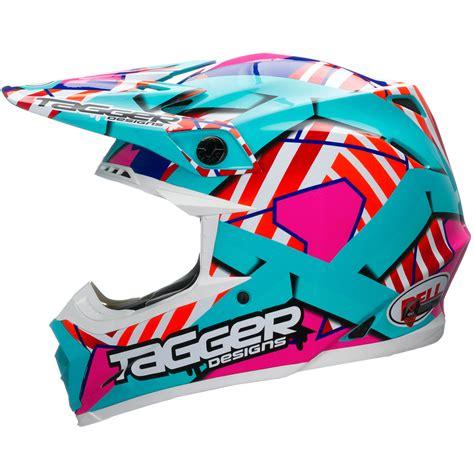 bell motocross helmet bell moto 9 tagger trouble blue white motocross helmet