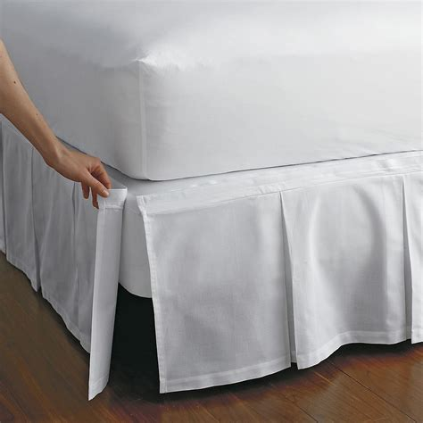 how to put on a bed skirt detachable box pleat bedskirt the company store
