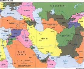 Southwestern Asia Map by Southwest Asia Political Map 1996 Full Size