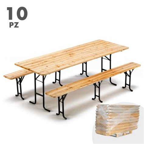 tavoli per sagre set birreria tavoli e panche in legno per feste e sagre