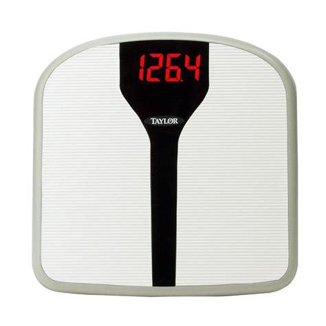electronic bathroom scale taylor superbrite electronic digital bath scale 98574072