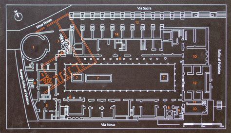 roman atrium house plan atrium vestae after ad 191 house of vestals rome roman forum