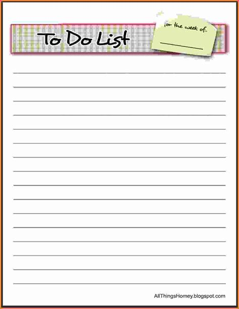 best to do list template things to do list template 6 best quality professional