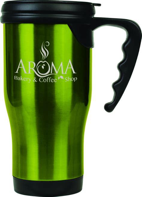 Handle Green Coffee personalized green travel coffee mug with handle
