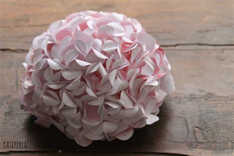 fiori di cartoncino ortensie di carta acquerellata watercolor paper