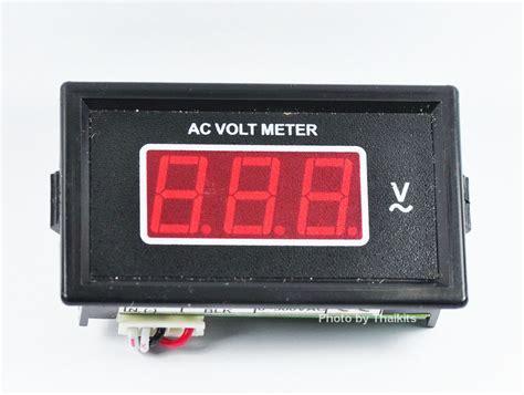 Volmeter Digital Ac 0 500v Original 0 500v Ac Volt Meter Digital Seven Segment Panel Meter 9