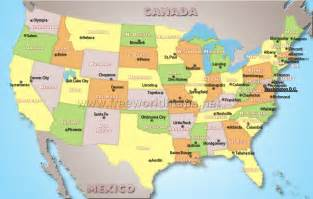 Us Map With States And Capitals by Us Map With Capitals 50 States
