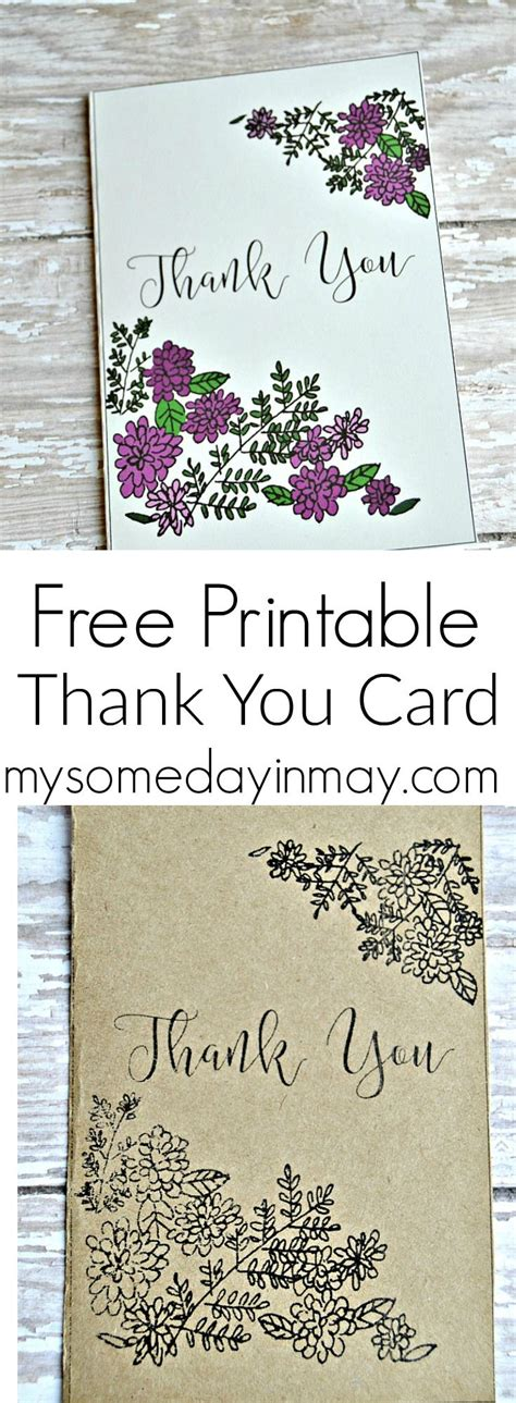 free printable greeting cards thank you free printable thank you card someday in may prints