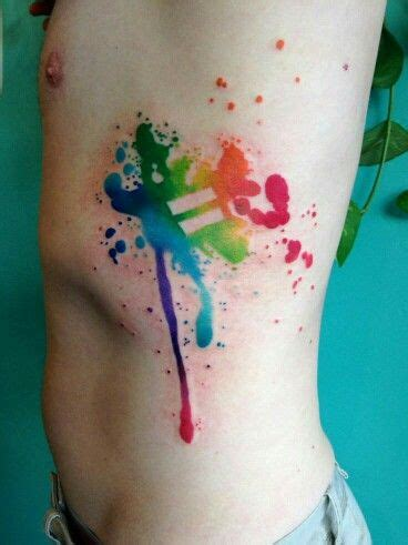 splatter paint tattoos equal rights rainbow paint splatter idea