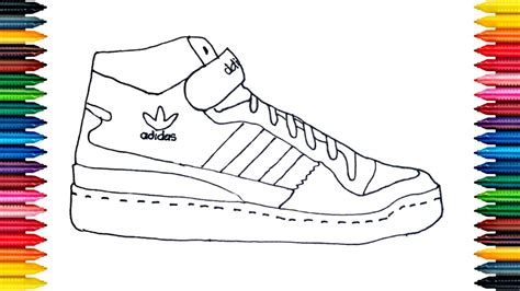 drawing adidas boots how to draw shoes for