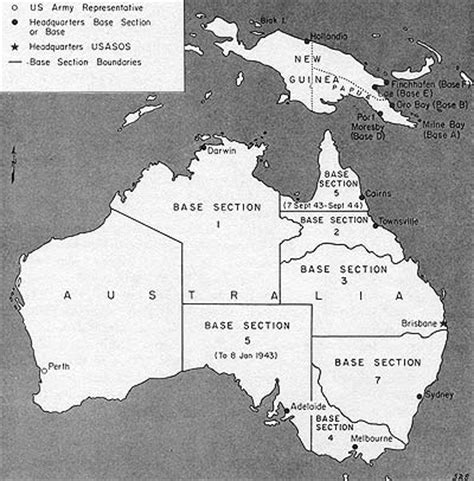 American Base Sections In Australia During Ww2