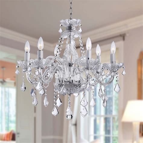 Bargain Chandeliers Maria Theresa 6 Light Crystal Chandelier Free Shipping