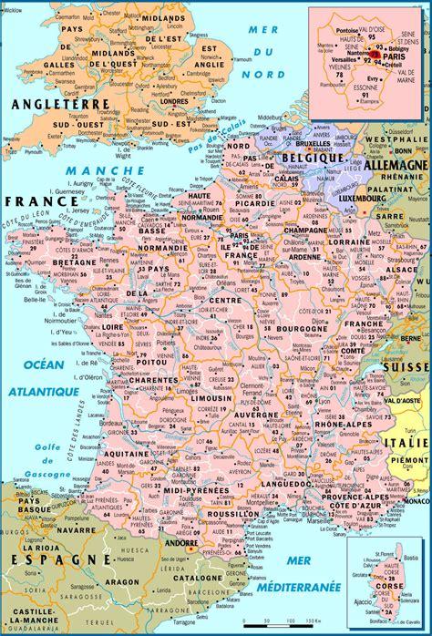 carte de france carte du monde france map voyage