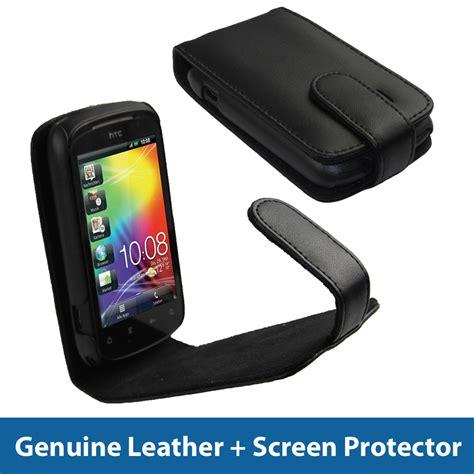 Hp Htc A310e black leather for htc explorer android smartphone cover holder bumper a310e ebay