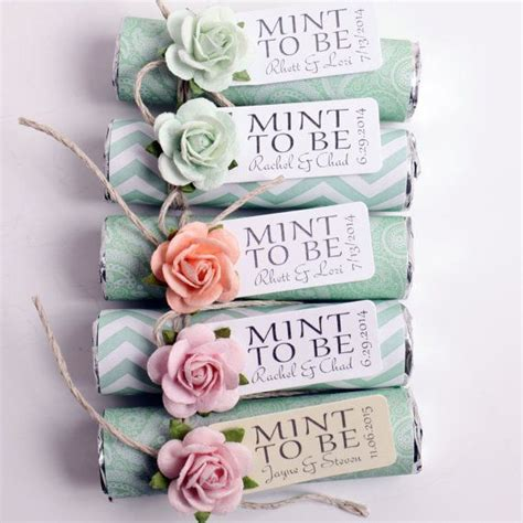 Wedding Giveaways Uk - mint wedding favors set of 100 mint rolls quot mint to be quot favors with personalized