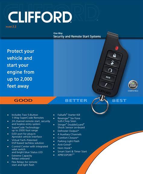 Alarm Clifford Matrix clifford 2 2 matrix car alarm with remote engine start