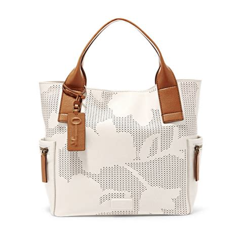 Fossil Satchel Coconut Ori fossil coconut leather zipper closure emerson satchel shoulder handbag handbags purses