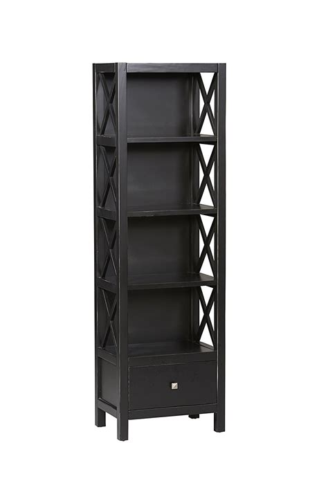narrow bookcase black top 15 narrow bookshelf and bookcase collection