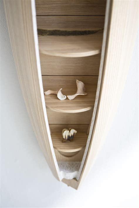 boat shaped wall shelf a boat shaped wall shelf by jeremy zietz ignant