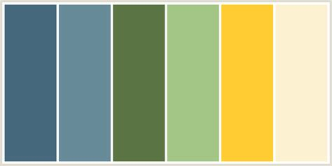 green color schemes colorcombo209 with hex colors 47697e 688b9a 5b7444