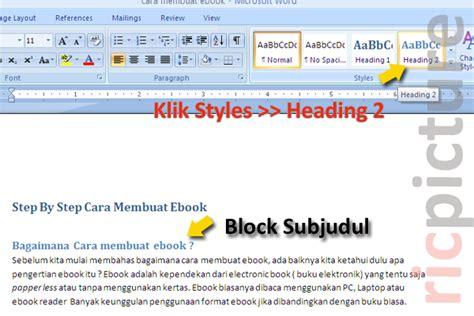 contoh membuat daftar isi di word 2007 contoh daftar isi cara membuat daftar isi di word 2007