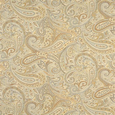 reupholstery fabric light beige and gold abstract paisley damask upholstery fabric