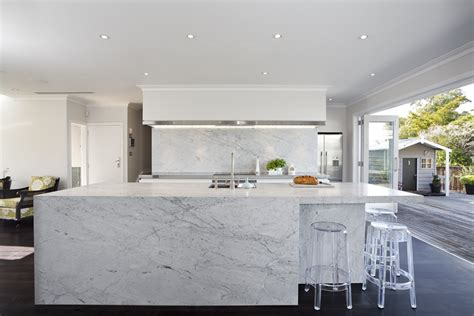 carrara marble kitchen island carrara marble flows the top and three sides of