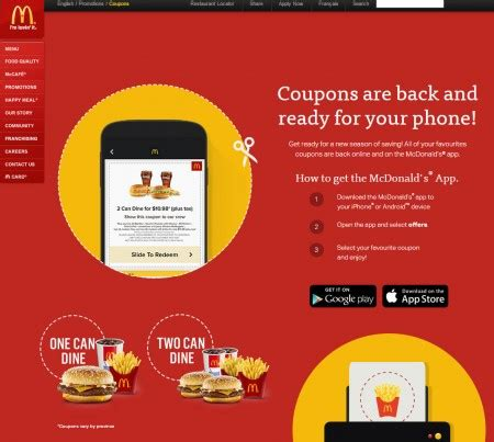 haircut coupons toronto mcdonald s canada new mcdonalds coupons until apr 12