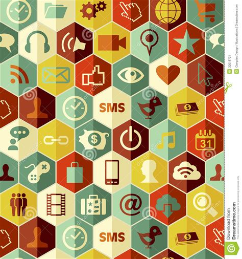 Seamless Pattern App | app icons seamless pattern stock image image 32018701