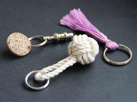 diy keychain 3 simple diy keychain ideas diy network made remade diy