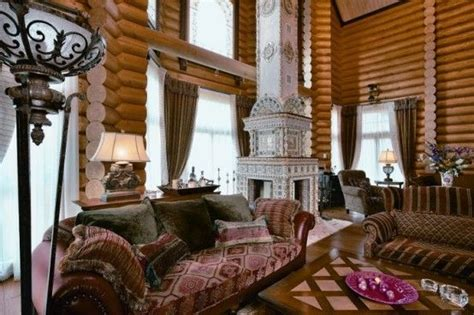 russian interior design siberian house noble fairytale home in russia