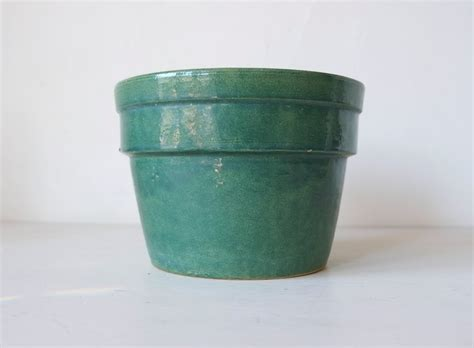 Modern Ceramic Planters by Mid Century Teal Glazed Ceramic Planter Modern 1950s By