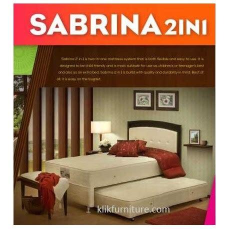 Central Kasur Springbed 2 In 1 Set Sabrina 120x200 springbed sorong 2 in 1 silver sabrina central springbed