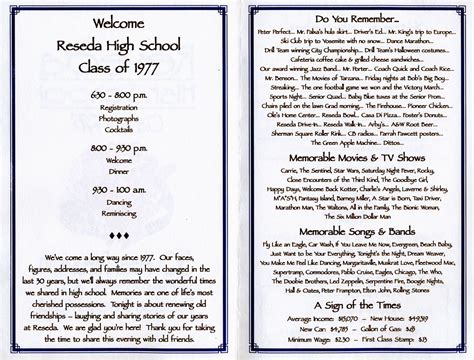 Class Reunion Program Template 301 moved permanently