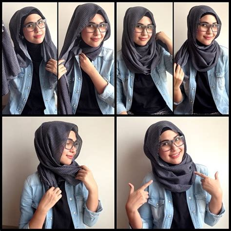 cara berhijab untuk wanita berkacamata