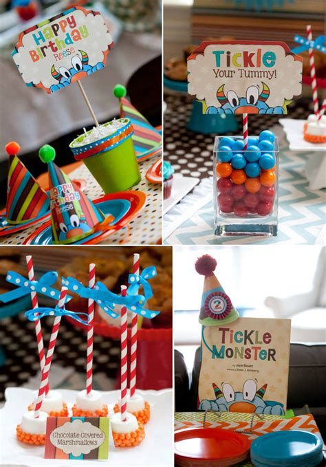 theme names for a birthday party kara s party ideas tickle monster themed birthday party