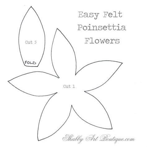 pattern for paper poinsettia simply christmas easy felt poinsettias shabby art