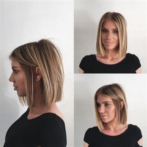 textured end bobs women s blunt blonde bob with textured ends and front layers